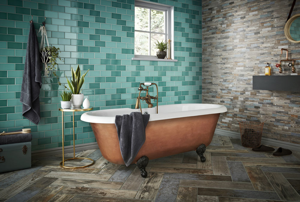 Image of: Bathroom Floor Tiles Colours