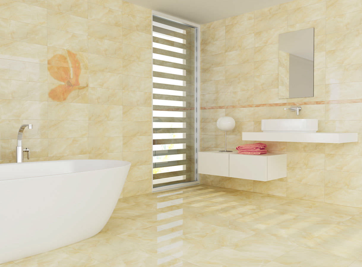 Image of: Bathroom Floor Tiles Design