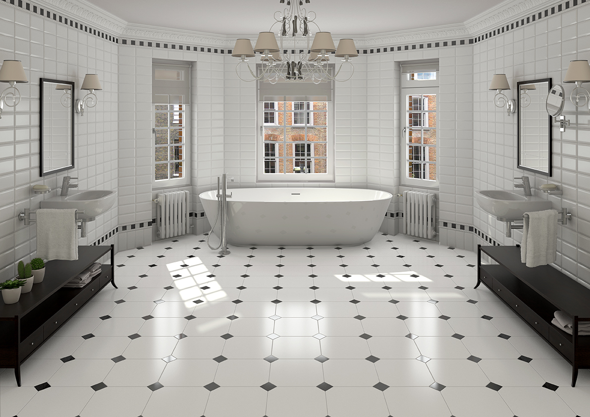 Image of: Bathroom Floor Tiles Ideas