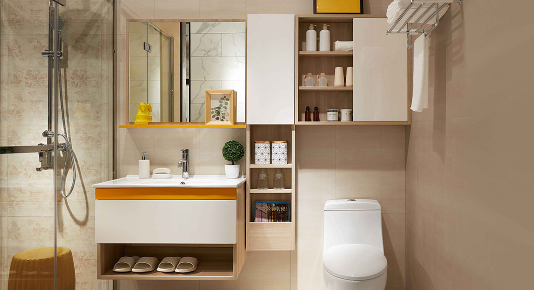 Image of: Bathroom Storage Made