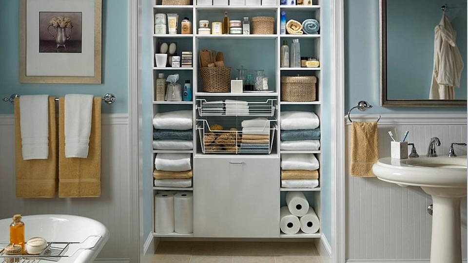 Image of: Bathroom Storage Near Me