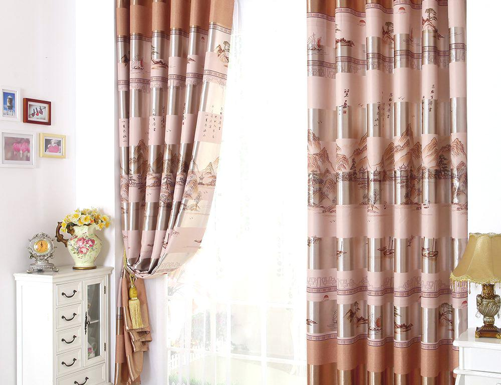 Image of: Bedroom Curtains Colours