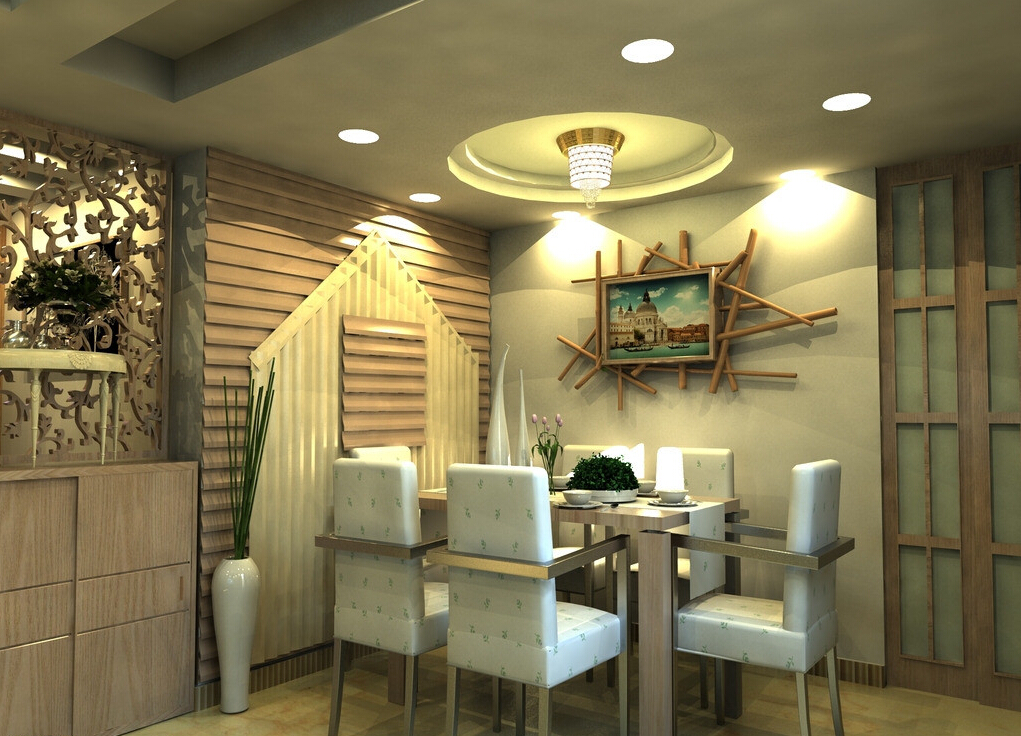 Image of: Contemporary Dining Room Wall Decor