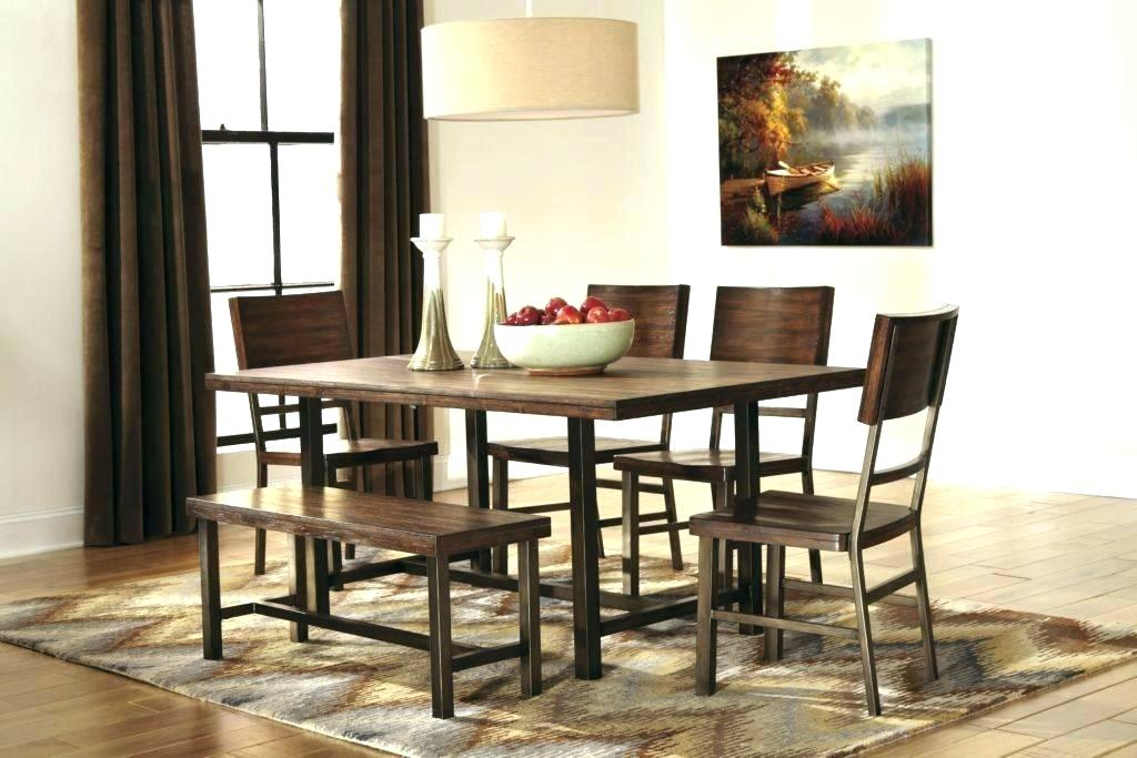 Image of: Dining Room Table with Bench Design