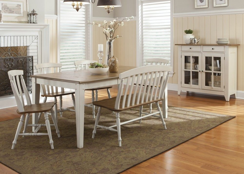 Image of: Dining Room Table with Bench Images
