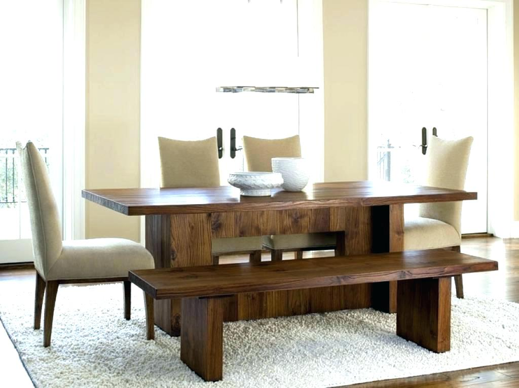 Image of: Dining Room Table with Bench Plans