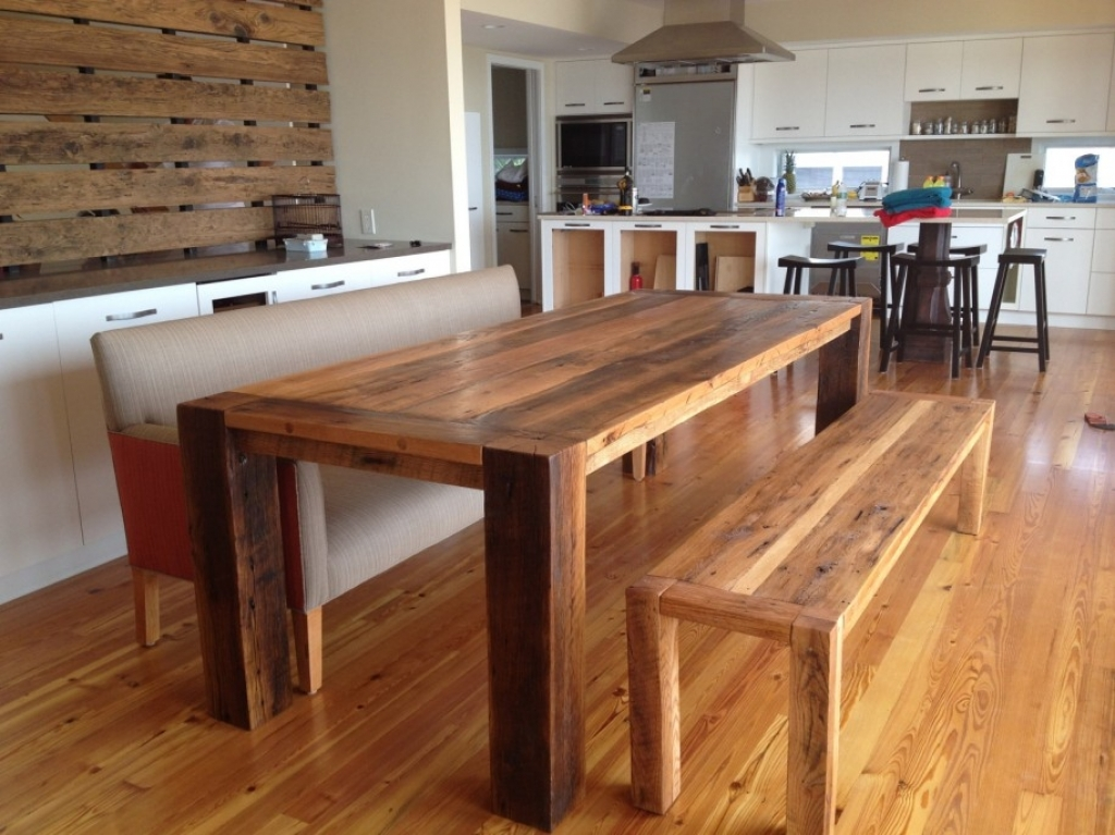 Image of: Dining Room Table with Bench and Chairs