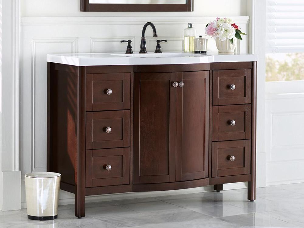 Image of: How to Paint Bathroom Cabinets