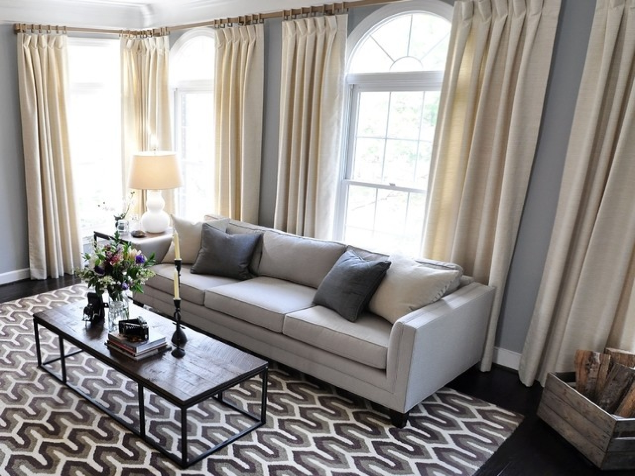 Image of: Living Room Curtains Clearance