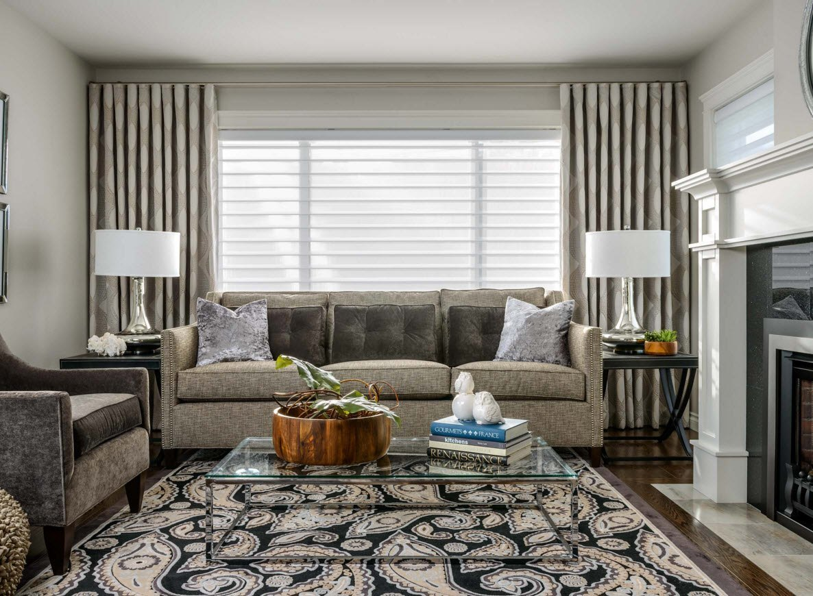 Image of: Living Room Curtains Modern