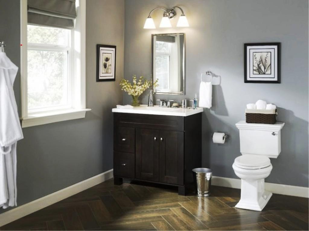Image of: Lowes Bathroom Vanity Collections