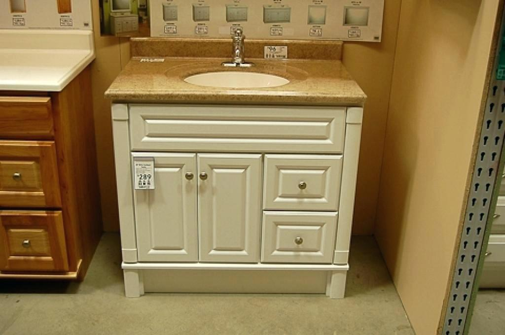 Image of: Lowes Bathroom Vanity Custom