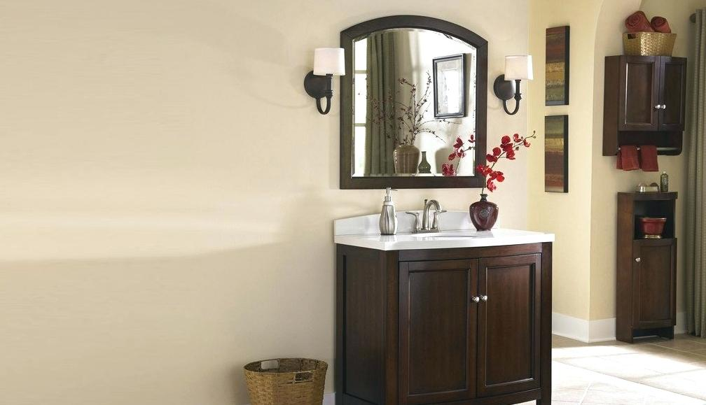 Image of: Lowes Bathroom Vanity Installation