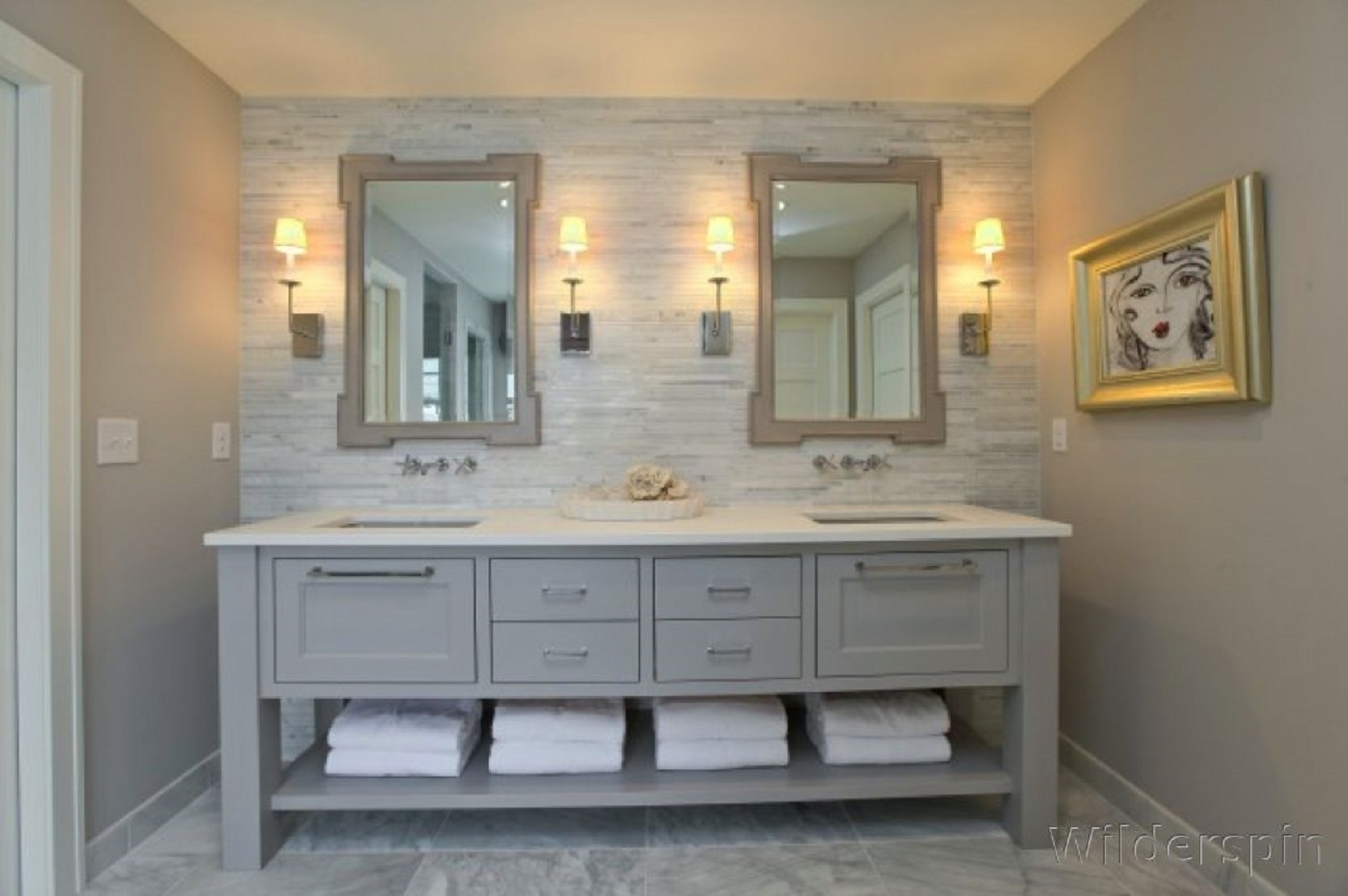 Image of: Lowes Bathroom Vanity Mirrors