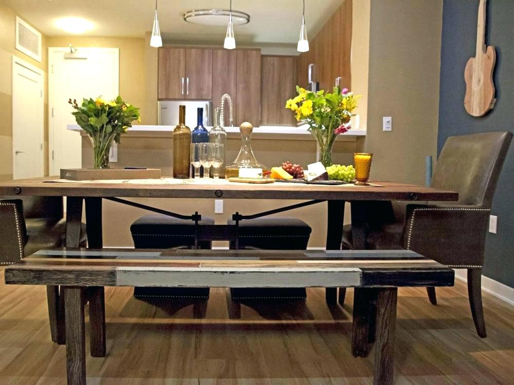 Modern Dining Room Table With Bench