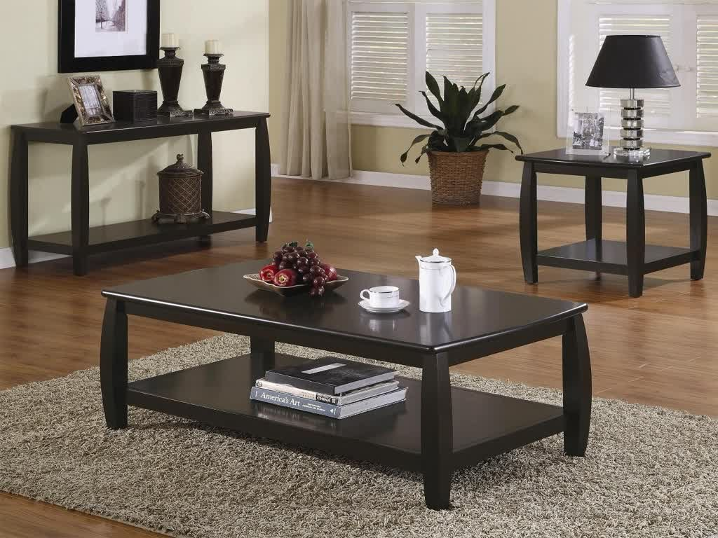 Image of: Modern Living Room Tables Design