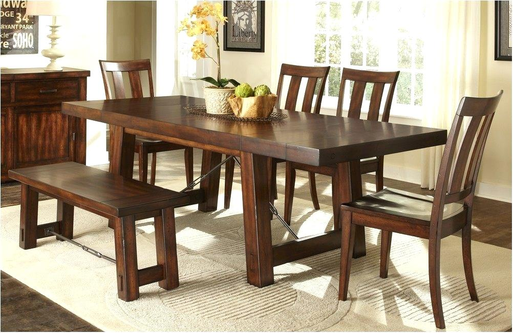 Image of: Vintage Dining Room Table with Bench